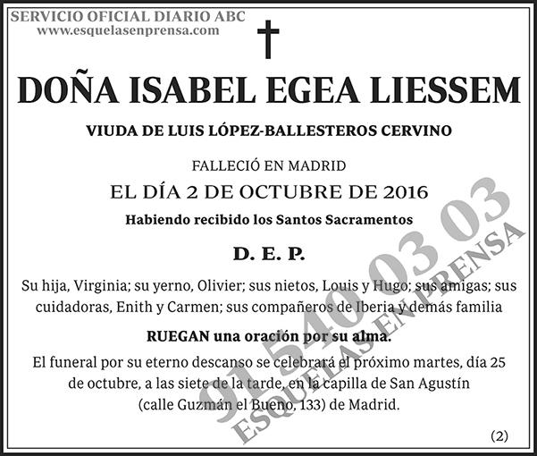 Isabel Egea Liessem